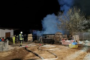 Wohnwagenbrand in Kögning