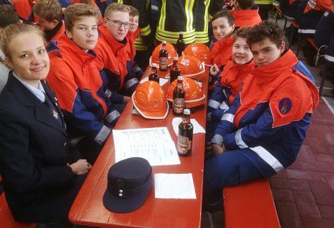 Regelmäßig besuchen die Jugendwarte mit ihrer Truppe regionales Wettbewerbe.