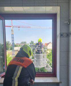 Rettung aus Fenster