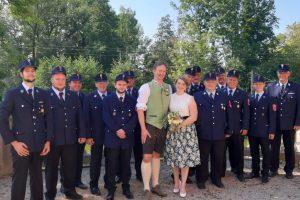 Glückwunsch an unser Feuerwehr-Hochzeitspaar
